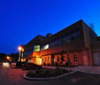 WCVM Veterinary Medical Centre at dusk