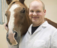 Veterinary student Nick Hawkins