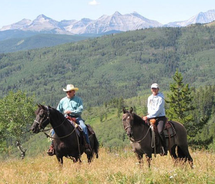 EFC members organize annual fundraising events across Canada such as the Sandy McNabb Equine Foundation Trail Ride near Turner Valley, Alta. Photo courtesy of EFC.
