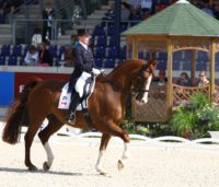 Wendy Christoff and Pfalstaff competing in Aachen, Germany, in 2010. Photo: Bob Langrish.