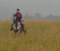 Shelley Ruiters and her Appaloosa mare Annie. Photo: Laurie Klassen.