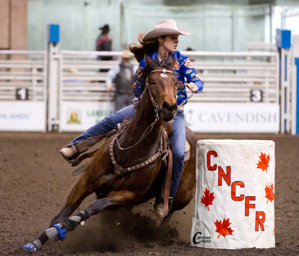 Stanton's equine experience includes competing in amateur, professional and college rodeos during her high school and university years.